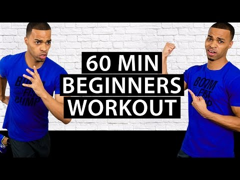 60 Minute Fat Burning Beginners Cardio HIIT Home Workout – Easy High Intensity Interval Training