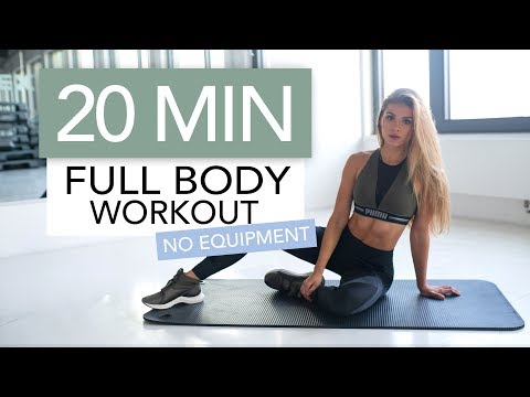 20 MIN FULL BODY WORKOUT // No Equipment   Pamela Rf