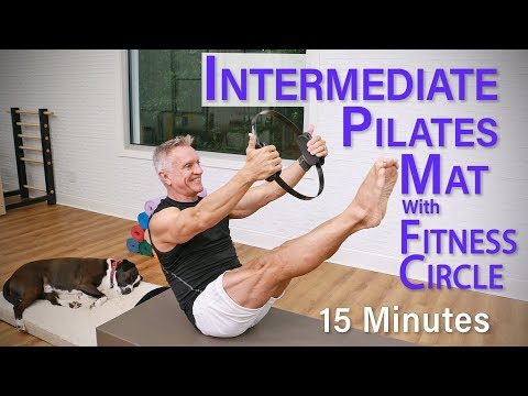 Intermediate Pilates Mat Workout with Fitness Circle – 15 Minutes