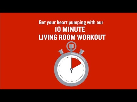 British Heart Foundation – 10 minute living room workout