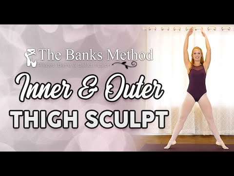 Trim Inner Thighs ♥ Ballet – Barre – Pilates Burn & Sculpt Workout, Beginners Class, At Home Fitness