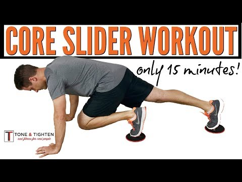 15-Minute Core Workout with Sliders – The best slider exercises for a 6-pack stomach