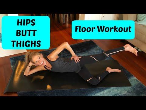 Floor Workout: Hips, Butt, & Thighs (Lean Legs Routine)