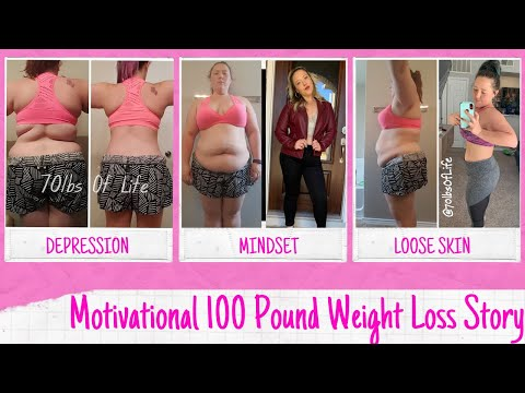 Weight Loss Motivation: Woman's 100 pound inspirational weight loss transformation video