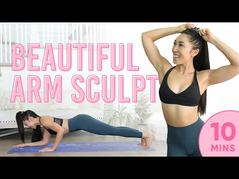 10 Minute Beautiful Arm Sculpt Pilates Workout | 7 Day Arm Challenge (Days 4-7)