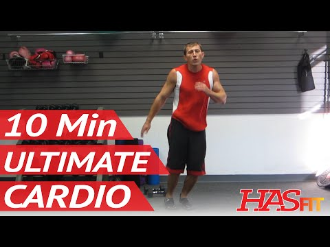 Ultimate 10 Minute Cardio Workout At Home | Burn Fat w/ Aerobic Exercises & Workouts