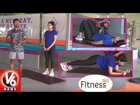 Simple Exercises To Reduce Fat In Abdominal And Lower Body | Trainer Venkat | Fitness 360 | V6 News