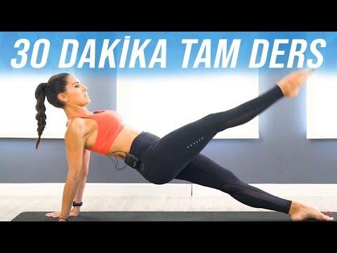 Tüm Vücudu Sıkılaştıran 30 Dakika Pilates Egzersizi (Tam Ders)
