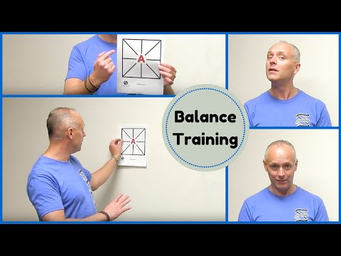 Balance exercise and training. Improve your balance with VOR drills.