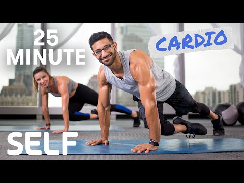 25 Minute Full Body Cardio Workout – No Equipment With Warm-Up and Cool-Down | SELF