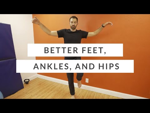 Exercises for ankle strength, hip stability, foot strength and balance