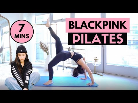 BLACKPINK INSPIRED PILATES WORKOUT! | Workout Like Jennie & Rosé | MishMe