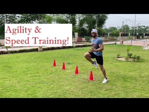 Agility & Speed Training- Cones drills| Fast feet| Improve footwork and Coordination.#foreveryone