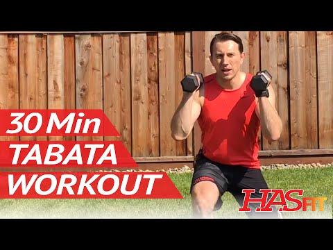30 Min Dumbbell Tabata Workout – HASfit Brutal Tabata Training Exercises