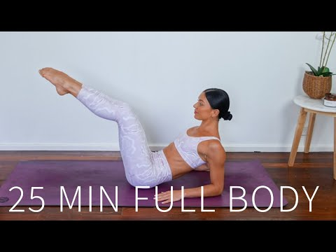 25 MIN FULL BODY WORKOUT || At-Home Pilates (Intermediate)