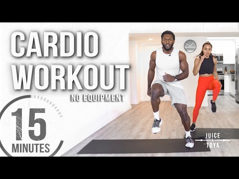 15 Minute Full Body Cardio Workout (No Equipment)