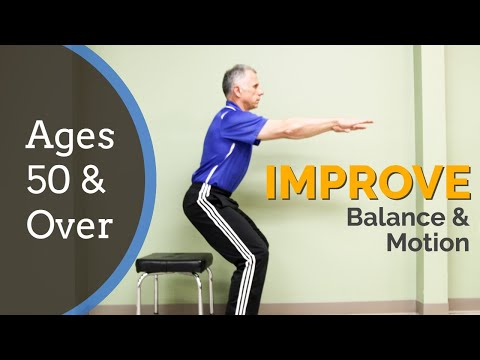 Look Younger, Improve Balance & Motion, 10 Home Exercises for 50 & Over
