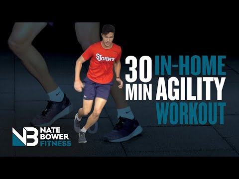 30 Minute At Home Agility Workout | Train Like an Athlete | NateBowerFitness