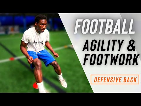 Football Speed And Agility WORKOUT (Defensive Back Footwork & Agility Training)