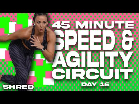 45 Minute Speed and Agility Circuit NO EQUIPMENT NEEDED Workout | SHRED – Day 16