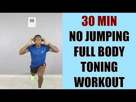 30 Minute No Jumping Standing Full Body Workout/ Toning Workout No Equipment