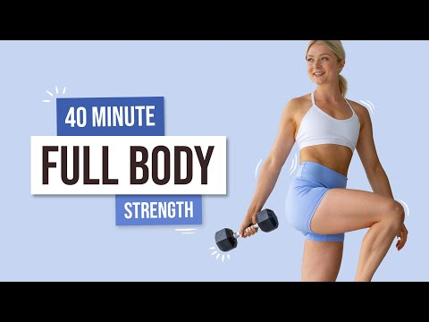 40 MIN INTENSE STRENGTH Workout – With Weights, Full Body, No Repeat exercises