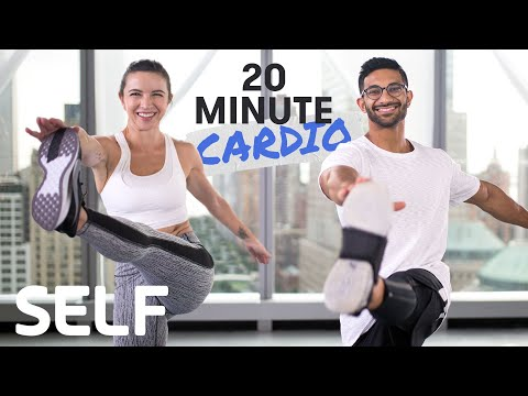 20 Minute Heart-Pumping Cardio Workout – No Equipment With Warm-Up & Cool-Down | SELF