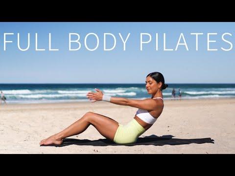 35 MIN FULL BODY WORKOUT    Intermediate Pilates (Mini Resistance Band)